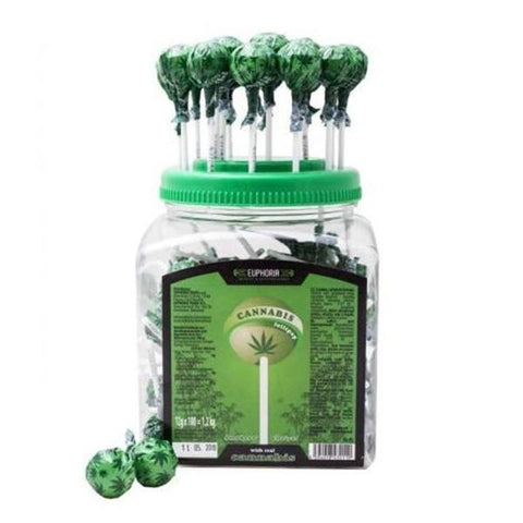 Euphoria Cannabis Lollipops 12g x 100pcs - secondvape