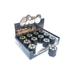 12 x 3 Parts Handmuller Black Bullet Metal 40mm Grinder - HX240B