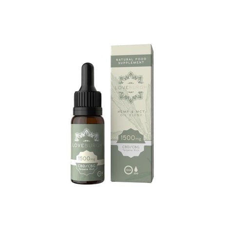 Loveburgh 1500mg MCT CBD Oil 10ml - secondvape