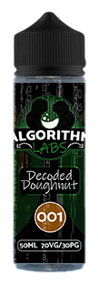 Algorithm Labs - Decoded doughnut 001 - 50ml (free comp entry inc) - secondvape