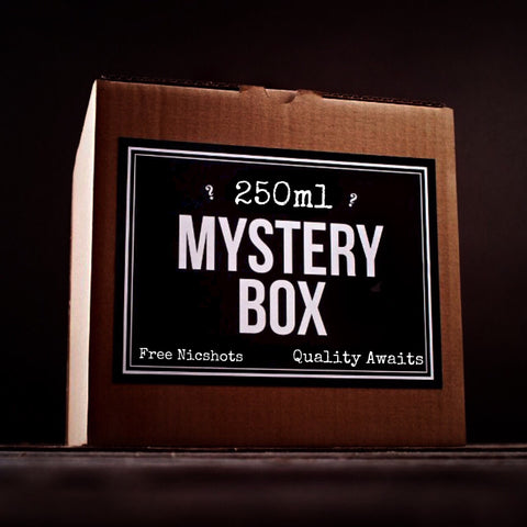 250ml E-liquid MYSTERY BOX + Nic Shots - secondvape