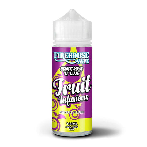 FIREHOUSE VAPE - FUSION FRUITS - GRAPE KIWI N LIME - 100ML