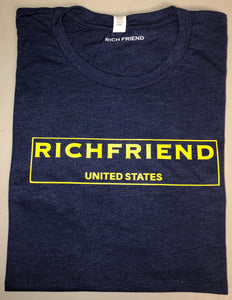 Navy Blue & Yellow t shirt