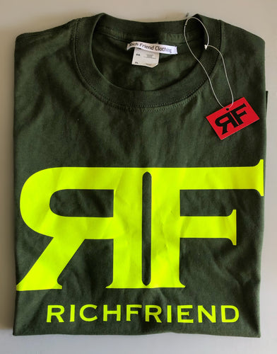 Neon Green/Olive Green t shirt