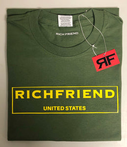 Yellow &Olive Green t shirt