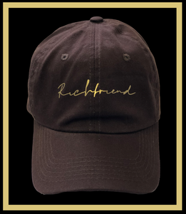Rich Chocolate Brown Signature dad cap