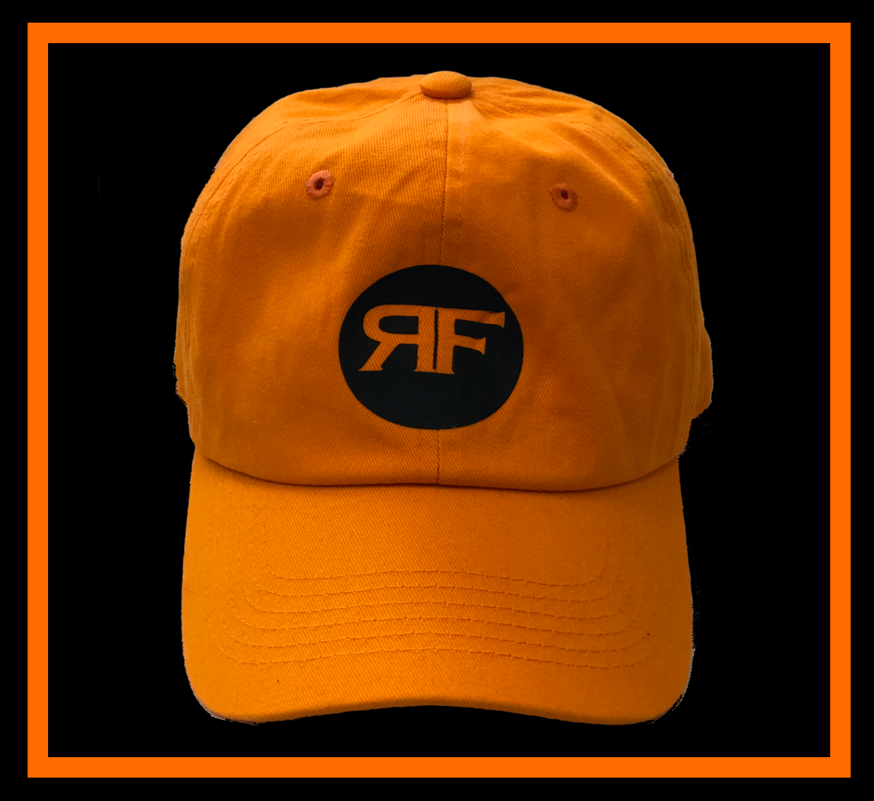 Rich Orange dad cap