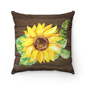 Be a Sunflower Throw Pillow - My Treasured Gifts Co