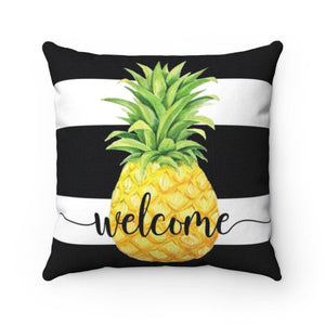 Welcome Pineapple Throw Pillow