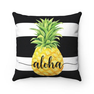 Aloha Striped Pineapple Pillow Case - My Treasured Gifts Co