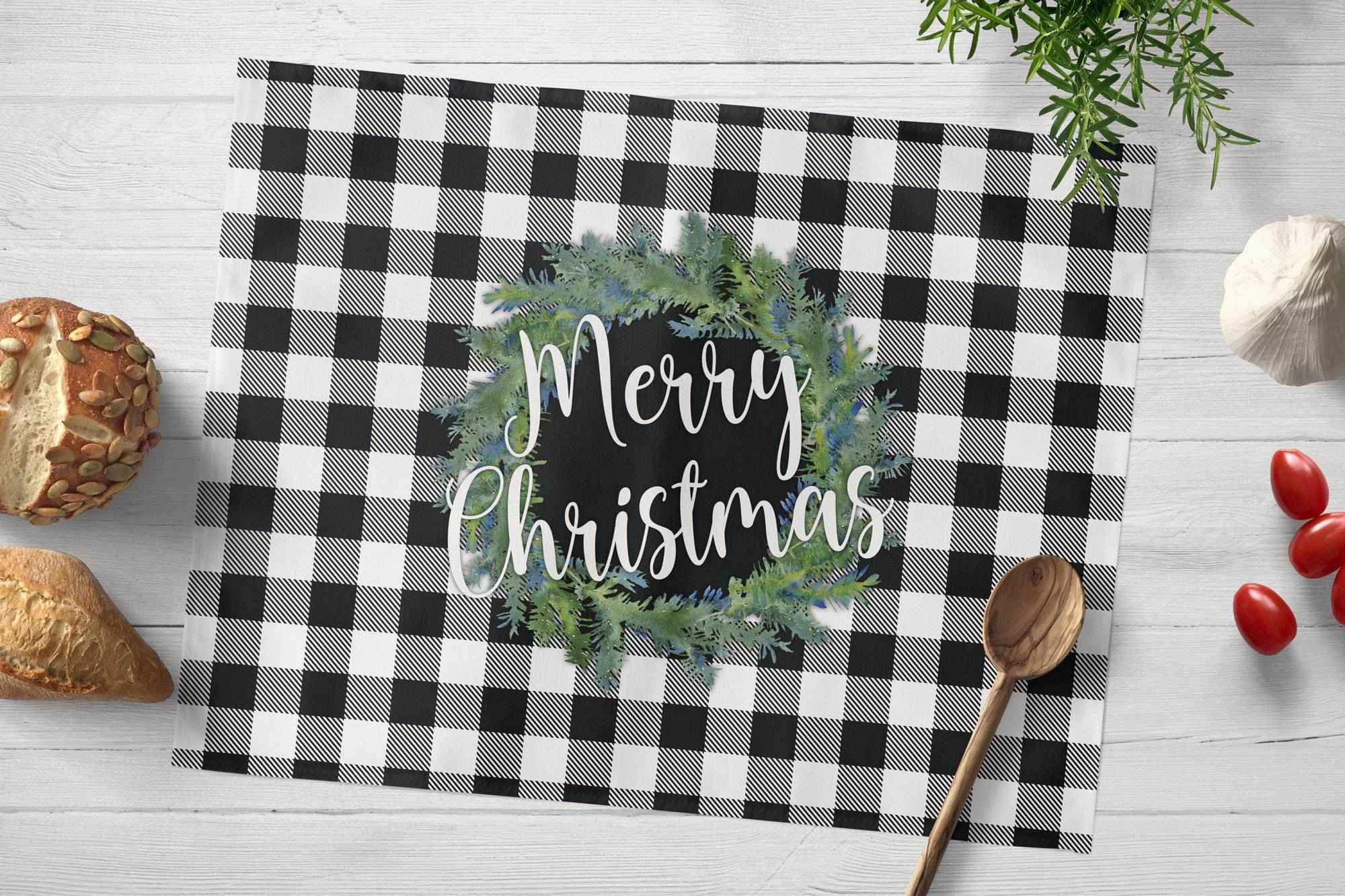 Buffalo Plaid Christmas Placemat - My Treasured Gifts Co