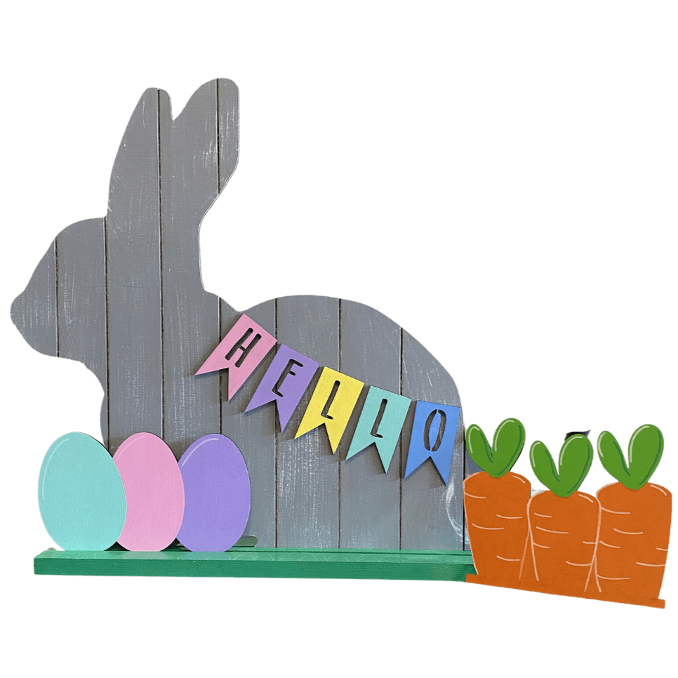 Stand Up Bunny Porch Decor - My Treasured Gifts Co