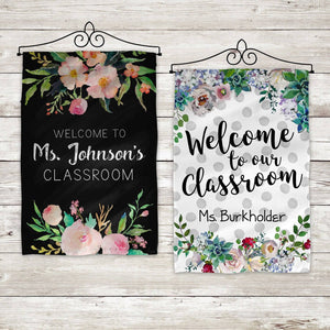 Custom Classroom Banners - Personalized Teacher Flag - My Treasured Gifts Co