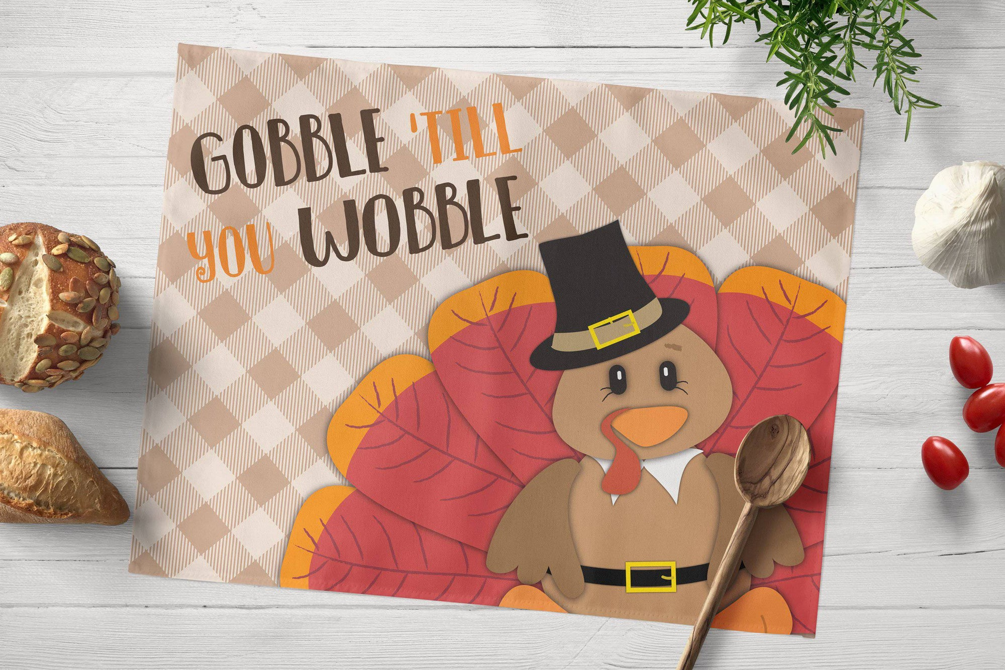 Thanksgiving Turkey Placemat - My Treasured Gifts Co