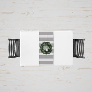 Classic Boxwood Wreath Table Runner