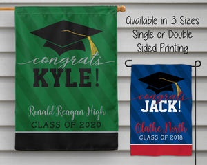 Personalized Graduation Flags - My Treasured Gifts Co