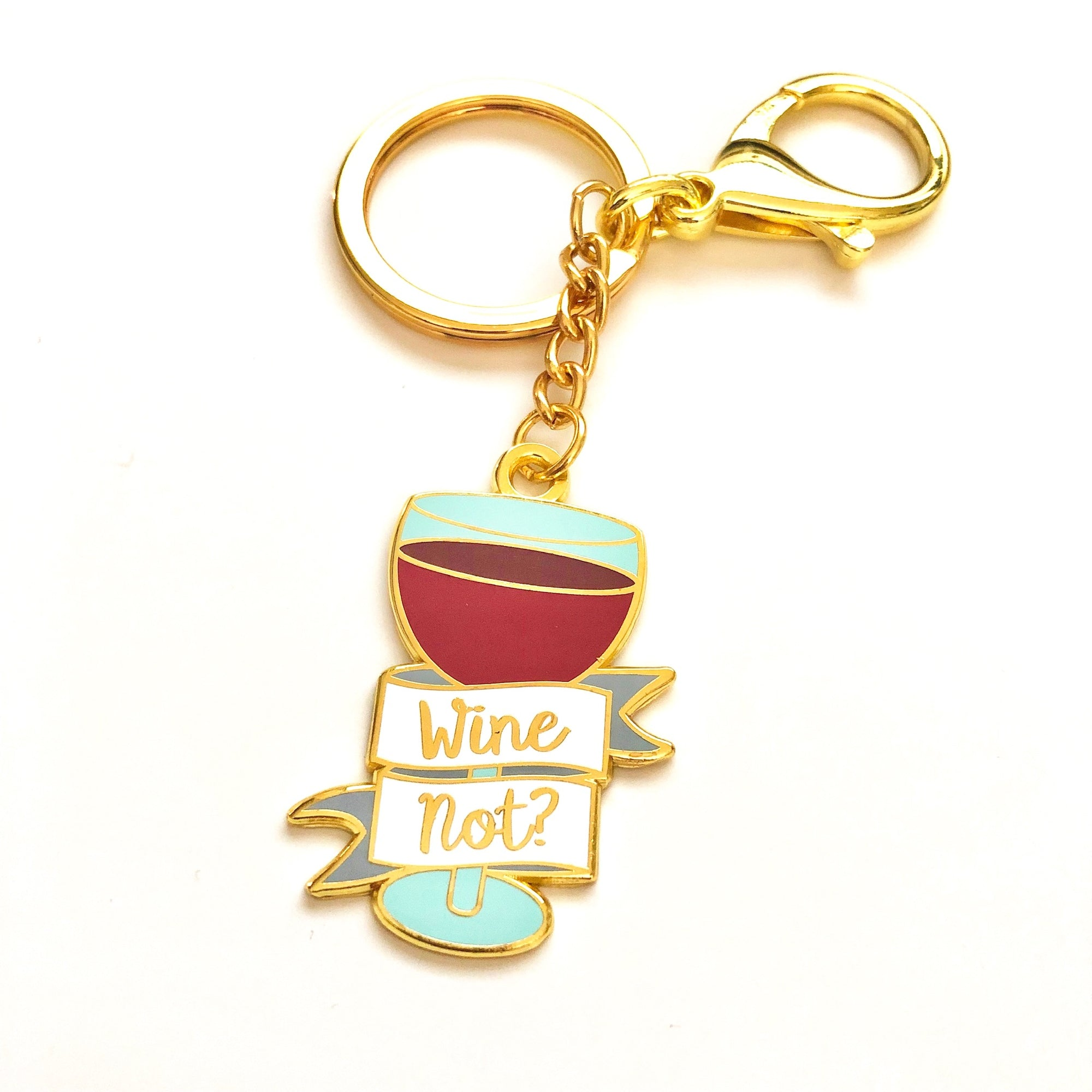 Wine Not Keyring and Purse Clip