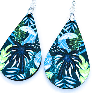Tropical Blue and Green Teardrop Earrings - My Treasured Gifts Co