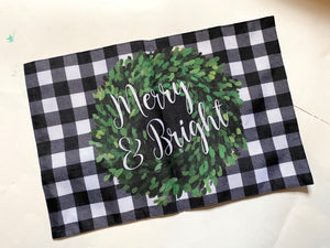 Reversible Fall and Winter Placemat - My Treasured Gifts Co