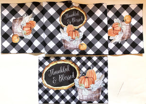 Reversible Fall and Winter Table Runner - My Treasured Gifts Co