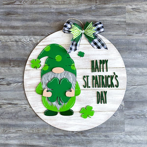 St. Patrick's Day Gnome Sign