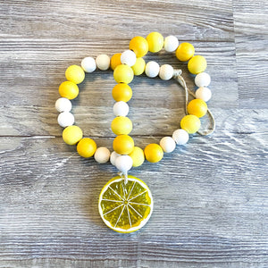 Lemon Beaded Tiered Tray Garland - My Treasured Gifts Co