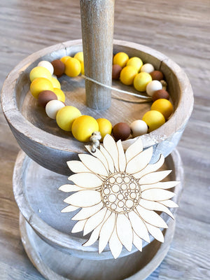 Sunflower Beaded Tiered Tray Garland