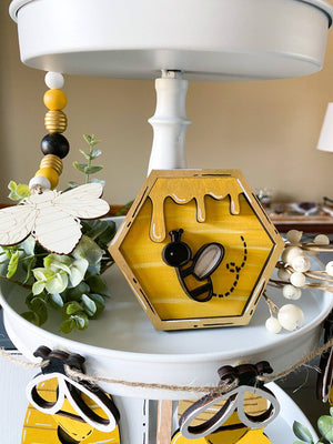 Bee Tiered Tray Set - My Treasured Gifts Co