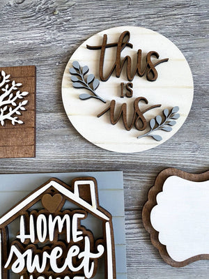 Home Sweet Home Tiered Tray Set - My Treasured Gifts Co