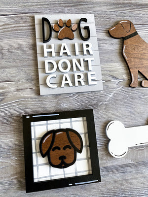 Dog Themed Tiered Tray Decor - My Treasured Gifts Co