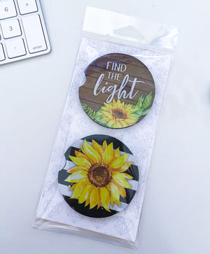 Sunflower Car Coasters - My Treasured Gifts Co