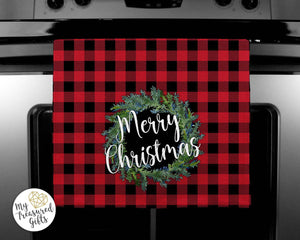 Buffalo Plaid Waffle Weave Kitchen Towels - My Treasured Gifts Co
