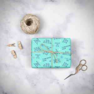 Sarcastic Holiday Gift Wrap - My Treasured Gifts Co