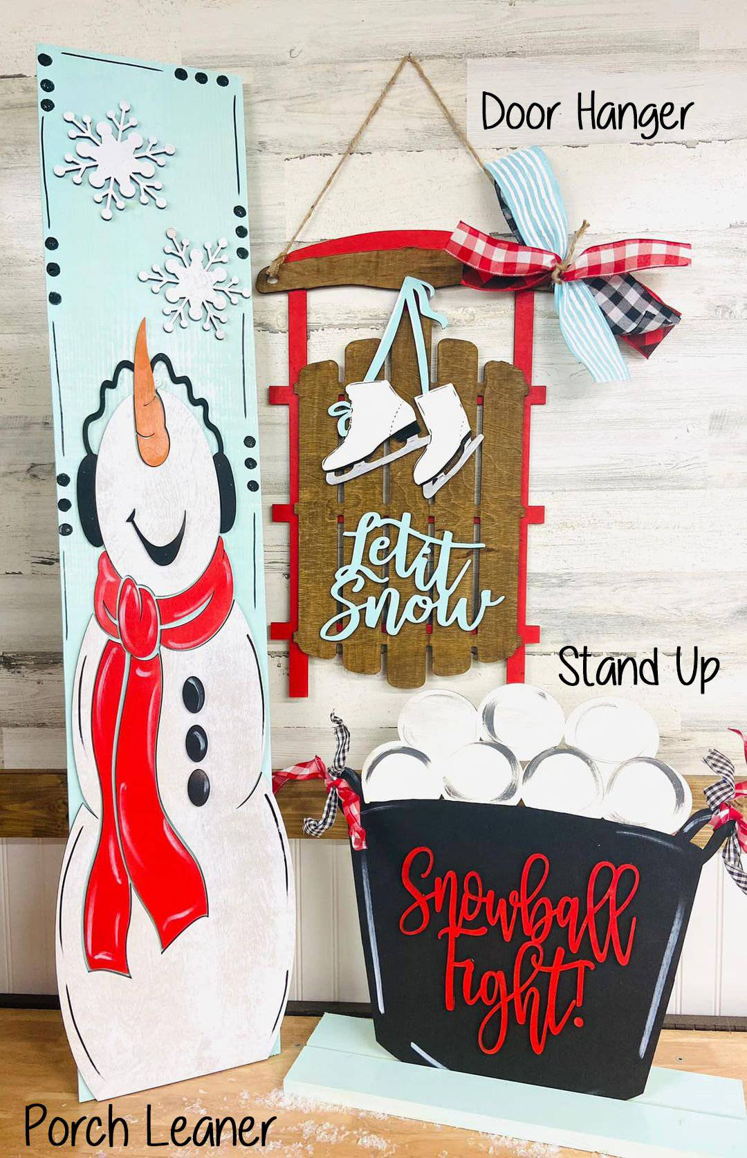 Snowman Porch Decor Set - My Treasured Gifts Co