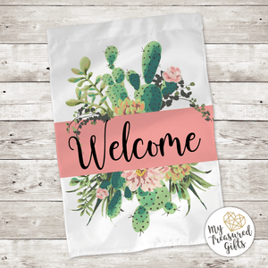 Southwestern Cactus Welcome Garden Flag - My Treasured Gifts Co