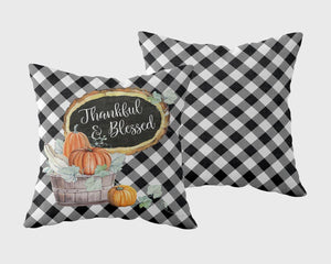 Thankful & Blessed Outdoor Pillowcase