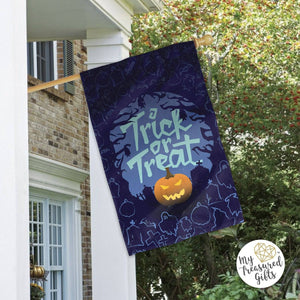 Trick or Treat Halloween Garden Flag or House Flag