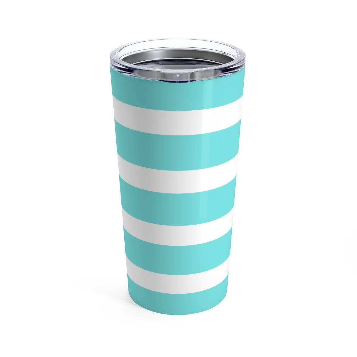 Seafoam Striped Pineapple Sip Sip Hooray 20 oz Tumbler - My Treasured Gifts Co