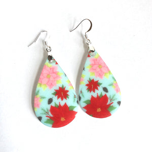 Poinsettia Teardrop Earrings