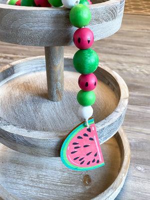 Watermelon Beaded Tiered Tray Garland - My Treasured Gifts Co