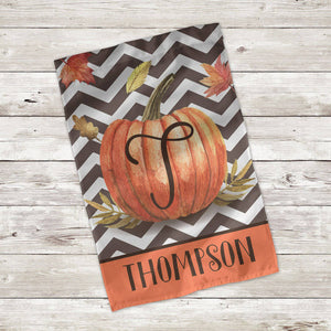 Pumpkin Initial Fall Flag