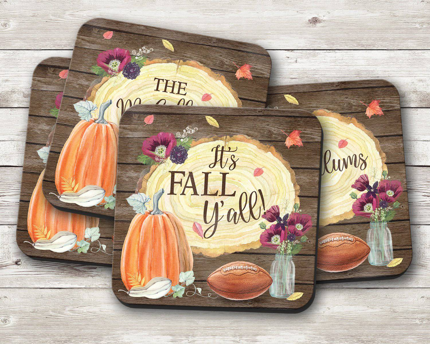 It's Fall Y'all Coaster Set