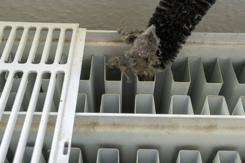 cleaning inside a radiator