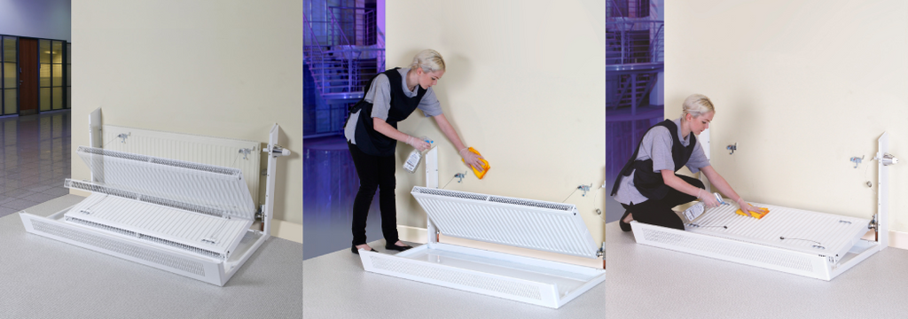 How to easily remove radiator from wall for easy cleaning, painting, decorating and wallpapering