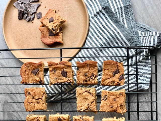 Chocolate Chunk Chickpea Blondies