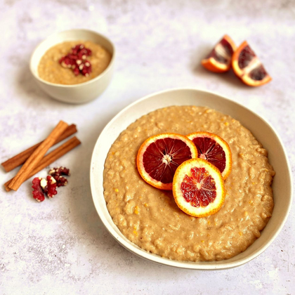 Vegan Bourbon Orange Rice Pudding