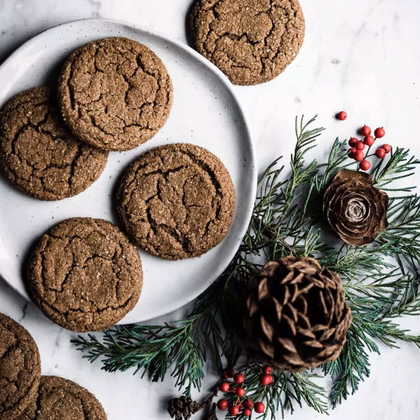 Ginger Spiced Date Syrup Cookies