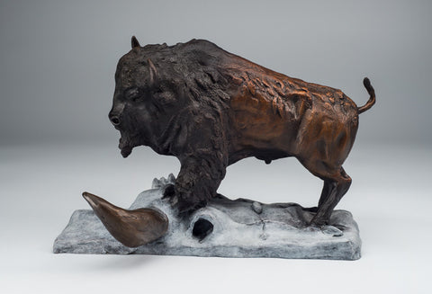 20 Degrees Below buffalo bronze by Ronnie Turpin