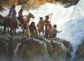 the Force of Nature Humbles All Men by Howard Terpning