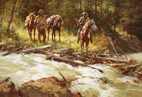 Bear Tracks by Howard Terpning